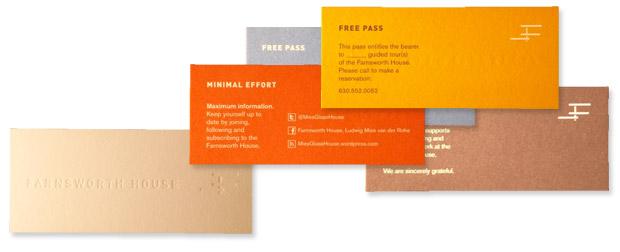 Farnsworth House promo cards