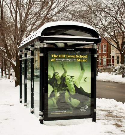 Old Town School of Folk Music Bus Stop Ad