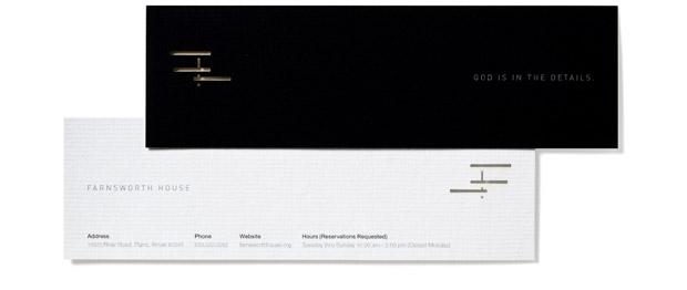 Farnsworth House die-cut bookmarks