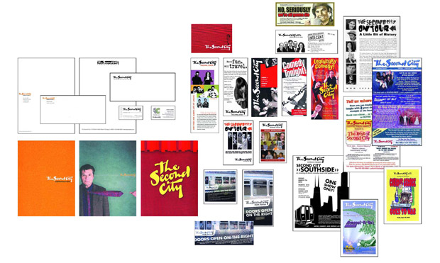 The Second City's existing print materials